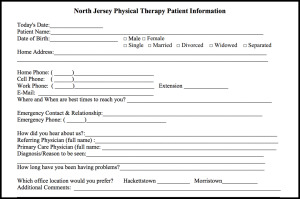 Printable Forms | North Jersey Physical Therapy Associates